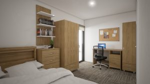 1 Large Bedroom Ensuite & Balcony in a 3 Bedroom Apartment